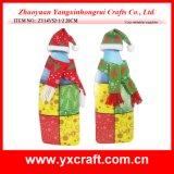 Tampão da tela do Natal do vinho do Natal da decoração do Natal (ZY14Y52-3-4) e ornamento do lenço