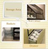 2パックの食器棚(zz-023)で光沢度の高いラッカー