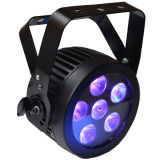 6X12W RGBWA sterben dünnes LED NENNWERT Stadiums-UVlicht mit Gussaluminium-Gehäuse für Disco, Video, Film, Fernsehapparat-Studio
