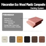 Revestimento ao ar livre composto plástico de madeira do Decking WPC de Eco