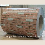 Les graines PPGI de brique de construction ont enduit des bobines d'une première couche de peinture de tôle d'acier