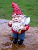 Décoration fabriquée à la main de jardin de gnome de Polyresin