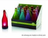 Luz solar do frasco decorativo plástico colorido para a barra