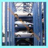 Стоянка автомобилей слуги подъема стоянкы автомобилей автомобиля штабелеукладчика 4 столбов многоуровневая