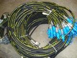 Boyau hydraulique tressé ou développé en spirales de fil