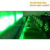 Plástico 18X1w RGB LED plana PAR luz