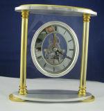 Orologio di scheletro della mensola del camino, orologio di scheletro antico