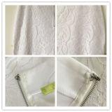 Vestidos médios da cintura do escritório do lápis do laço da roupa da forma das mulheres do verão