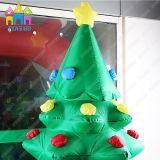 Albero di Natale gonfiabile esterno dell'interno del poliestere del PVC di Finego con l'indicatore luminoso del LED