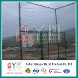 Frontière de sécurité enduite galvanisée et de PVC de chaîne de maillon/frontière de sécurité à chaînes de maillon de chaîne de fil