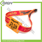 wristbands tecidos RFID Ultralight do evento da tela do bilhete MIFARE do festival