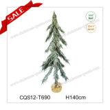 decoração plástica da árvore de Natal de 100-140cm