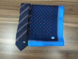 Seta Logo Neckties di 100% con Scarves
