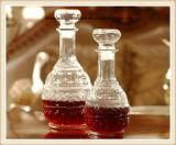 la botella de vino de cristal de 2PC 500ml 1000ml fijó con la tapa de cristal hermética