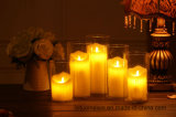Candela senza fiamma a pile della cera LED con l'indicatore luminoso a distanza della candela di Contral/LED