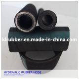 Tuyau en caoutchouc hydraulique tressé à haute pression d'acier inoxydable