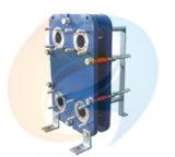 알파 Laval Ts6m 보충 능률적인 열전달 AISI316는 NBR 틈막이 태양열 교환기 Sh60 시리즈를 도금한다