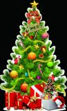 Presentes personalizados, pintura do Natal da decoração do Natal