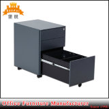 Gabinete de arquivo móvel do metal de 3 gavetas/suporte de aço com rodas