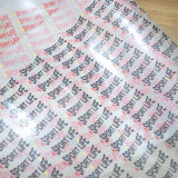 Printing caldo Transfer Labels per Clothing/Bags