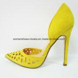 Повелительница Способ Ботинок высокой пятки с заострённый пальцем ноги и высоким качеством