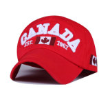 Custom High Quality 6-Panel Hip Hop Canada Baseball CAP with 3D Embroidery