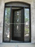 緩和されたガラスが付いているフレンチドア