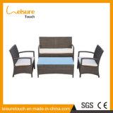 Conjunto de mimbre del sofá de la rota de la butaca de los muebles del patio del jardín del salón