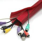Calcetín trenzado ensanchable del cable de la funda del animal doméstico flexible con Velcro