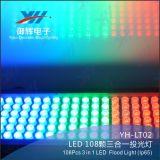 108PCS 3W RGB 3 en 1 adorno colorido del jardín de la luz del jardín del aluminio LED