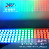 108PCS 3W RGB 3 в 1 цветастом украшении сада света сада алюминия СИД
