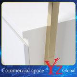 Шкаф промотирования шкафа выставки шкафа вешалки индикации полки индикации стойки индикации нержавеющей стали стеллажа для выставки товаров витринного шкафа (YZ161804)