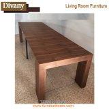 木製の上のメタル・ベース現代ダイニングテーブルを販売する2017現代熱