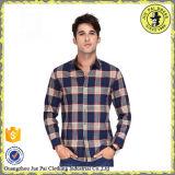 卸し売り格子縞の綿の長い袖の人のワイシャツトルコ