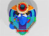 Hersteller-verrückter Entwurfs-Vulkan-aufblasbares Plättchen für Partei