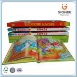 주문을 받아서 만들어진 아이들 두꺼운 표지의 책 이야기 책 인쇄