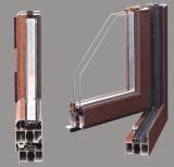 Ventana de aluminio esmaltada doble del marco de la apertura exterior con el vidrio Tempered