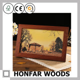 Quadro de foto de madeira sólida de sândalo vermelho de alta qualidade