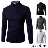 2016 Chinois neufs de modèle importent le long T-shirt de collier de polo d'hommes de chemise