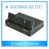 새로운 HDTV 수신기 Zgemma H3.2tc는을%s 가진 DVB-S2 + 2*DVB-T2/C 결합 인공 위성 수신 장치 잡종 조율사 이중으로 한다