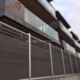 Panneaux en aluminium bon marché en gros de frontière de sécurité du jardin WPC pour le jardin, syndicat de prix ferme, stationnement, villa