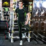 운동복이 2017의 Mens 체조 의류에 의하여 꼭대기에 오르거나 헐덕거린다