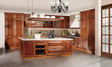Het volledig Aangepaste Traditionele Geschilderde Ontwerp van de Keuken, Geschilderde Stevige Houten Keukenkasten, de Houten Stijl van het Land