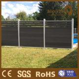 Résistance aux UV Cadre en métal Jardin Bois Composite Clôture extérieure sans évanouissement de la couleur