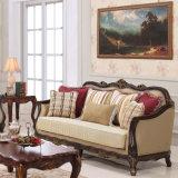 愛シート椅子および表との木のソファーの標準的な様式