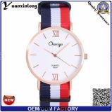 La marca de fábrica de lujo Yxl-490 mira el reloj de nylon China del deporte de la manera del reloj del hombre de la correa de la OTAN de las mujeres