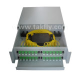 Portas FTTH/FTTX cremalheira ótica ODF montado de FC/Sc/LC/St 48