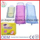極度の柔らかい女性の綿の衛生パッドの工場