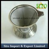 Filtro del cono del acero inoxidable, filtro de café, goteador perforado del café
