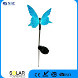 Indicatore luminoso solare ottico del bastone della farfalla della fibra